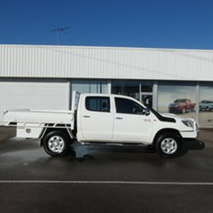 2011 Toyota Hilux KUN26R MY12 SR Double Cab White 4 Speed Automatic Utility