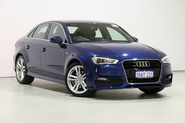 Demo Audi A3 8V MY14 1.8 TFSI Ambition, 2014 Audi A3 8V MY14 1.8 TFSI Ambition Blue 7 Speed Auto Direct Shift Sedan