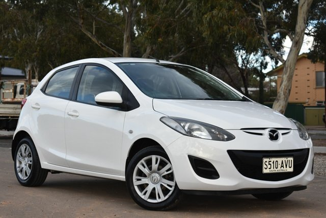 Used Mazda 2 DE10Y2 MY12 Neo, 2012 Mazda 2 DE10Y2 MY12 Neo White 5 Speed Manual Hatchback