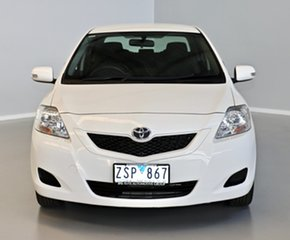 2013 Toyota Yaris NCP93R YRS White 4 Speed Automatic Sedan.