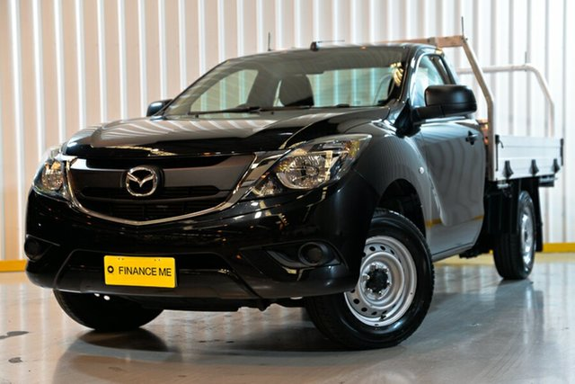 Used Mazda BT-50 UR0YE1 XT 4x2, 2017 Mazda BT-50 UR0YE1 XT 4x2 Black 6 Speed Manual Cab Chassis