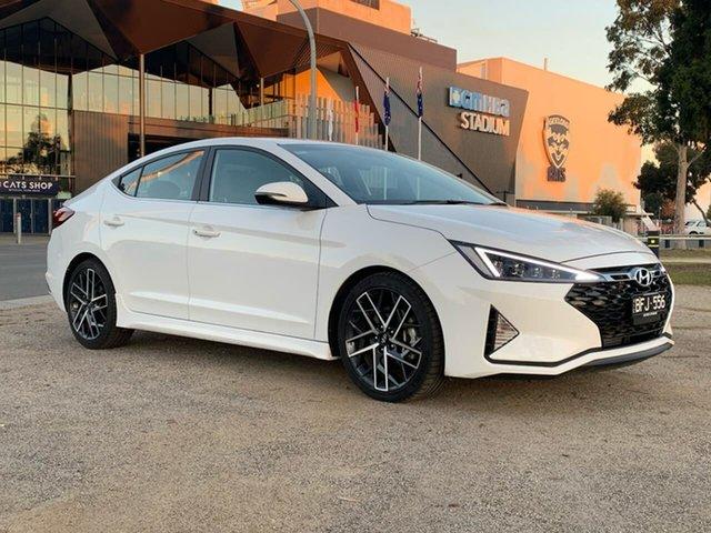 Demo Hyundai Elantra  Sport, 2019 Hyundai Elantra AD.2 Sport White Sports Automatic Dual Clutch Sedan