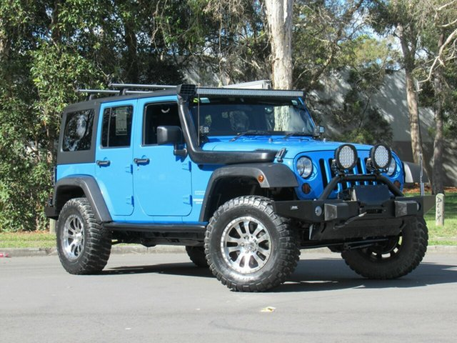 Used Jeep Wrangler JK MY2011 Unlimited Sport, 2011 Jeep Wrangler JK MY2011 Unlimited Sport Blue 6 Speed Manual Softtop