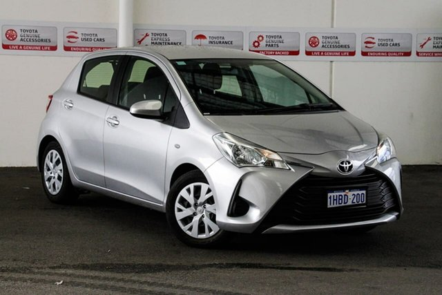 Used Toyota Yaris NCP130R Ascent, 2017 Toyota Yaris NCP130R Ascent Silver Pearl 4 Speed Automatic Hatchback
