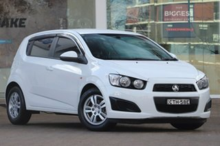 2014 Holden Barina TM MY15 CD White 6 Speed Automatic Hatchback.