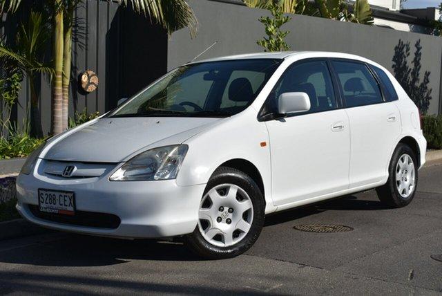 Used Honda Civic 7th Gen VI, 2000 Honda Civic 7th Gen VI White 5 Speed Manual Hatchback