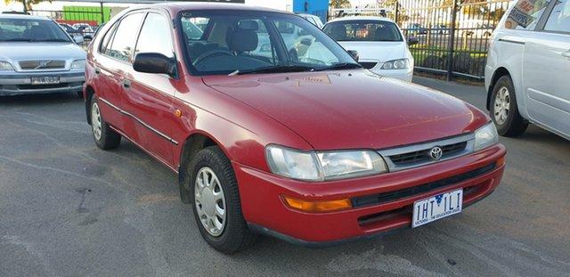 Used Toyota Corolla AE101R CSi Seca, 1999 Toyota Corolla AE101R CSi Seca Red 5 Speed Manual Liftback