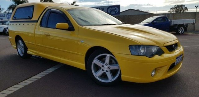 Used Ford Falcon BF XR6 Ute Super Cab East Bunbury, 2005 Ford Falcon BF XR6 Ute Super Cab Yellow 4 Speed Sports Automatic Utility