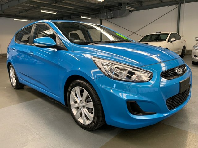 Used Hyundai Accent RB6 MY18 Sport, 2018 Hyundai Accent RB6 MY18 Sport Blue 6 Speed Sports Automatic Hatchback