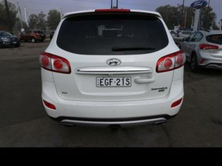 2012 Hyundai Santa Fe CM MY12 Trail CRDi (4x4) White 6 Speed Automatic Wagon