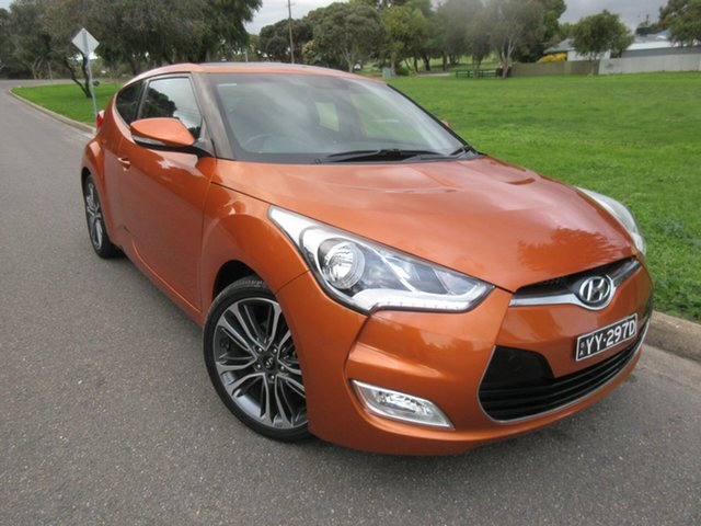 Used Hyundai Veloster FS4 Series II + Coupe D-CT, 2015 Hyundai Veloster FS4 Series II + Coupe D-CT Orange 6 Speed Sports Automatic Dual Clutch