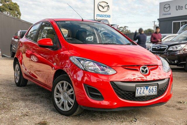 Used Mazda 2 DE10Y2 MY12 Neo, 2012 Mazda 2 DE10Y2 MY12 Neo True Red 4 Speed Automatic Hatchback