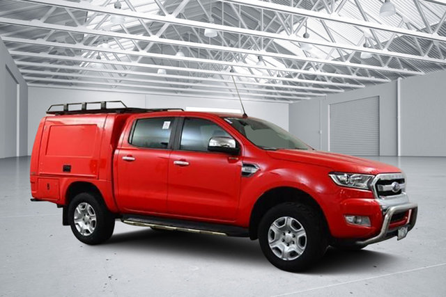 Used Ford Ranger PX MkII XLT 3.2 Hi-Rider (4x2), 2016 Ford Ranger PX MkII XLT 3.2 Hi-Rider (4x2) Red 6 Speed Automatic Crew Cab Pickup