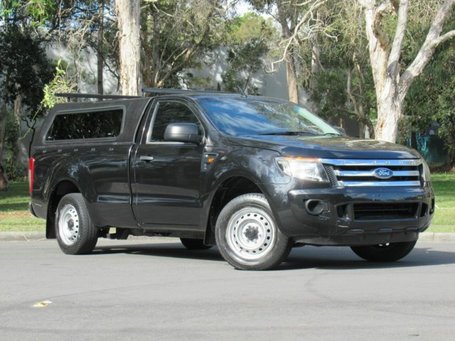 Used Ford Ranger PX XL 4x2, 2012 Ford Ranger PX XL 4x2 Black 6 Speed Manual Utility