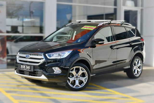 Used Ford Escape ZG 2019.25MY Titanium PwrShift AWD, 2019 Ford Escape ZG 2019.25MY Titanium PwrShift AWD Black 6 Speed Sports Automatic Dual Clutch Wagon