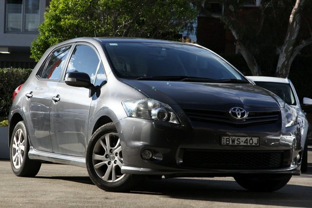 Used Toyota Corolla ZRE152R MY11 Levin ZR, 2011 Toyota Corolla ZRE152R MY11 Levin ZR Grey 4 Speed Automatic Hatchback