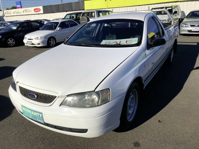 Used Ford Falcon BA Mk II SE Ute Super Cab, 2005 Ford Falcon BA Mk II SE Ute Super Cab White 4 Speed Automatic Utility