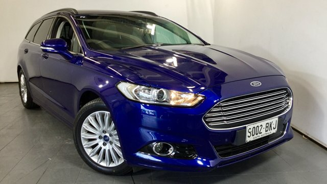 Used Ford Mondeo MD Trend PwrShift, 2015 Ford Mondeo MD Trend PwrShift Blue 6 Speed Sports Automatic Dual Clutch Wagon