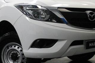 2017 Mazda BT-50 UR0YG1 XT White 6 Speed Manual Cab Chassis.