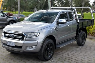 2016 Ford Ranger PX MkII XLT Double Cab 4x2 Hi-Rider Silver, Chrome 6 Speed Sports Automatic Utility