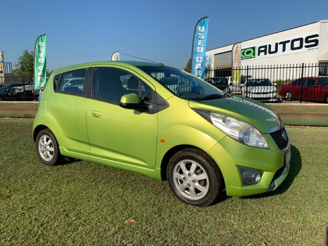 Used Holden Barina Spark MJ MY11 CD, 2011 Holden Barina Spark MJ MY11 CD Green 5 Speed Manual Hatchback