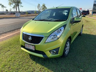 2011 Holden Barina Spark MJ MY11 CD Green 5 Speed Manual Hatchback.