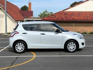 2012 Suzuki Swift FZ GA White 5 Speed Manual Hatchback.