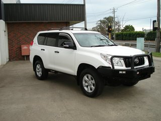 2012 Toyota Landcruiser Prado KDJ150R GX White 5 Speed Sports Automatic Wagon.