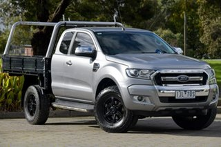 2016 Ford Ranger PX MkII XLT Double Cab 4x2 Hi-Rider Silver, Chrome 6 Speed Sports Automatic Utility.