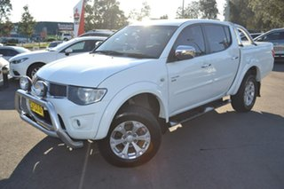 2012 Mitsubishi Triton MN MY12 GLX-R Double Cab White 5 Speed Manual Utility.