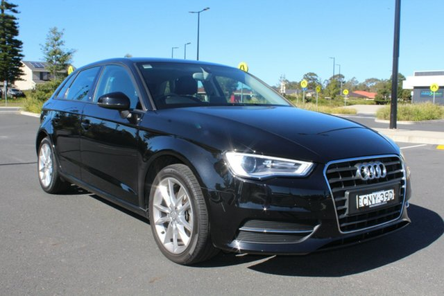 Used Audi A3 8V Attraction Sportback S Tronic, 2013 Audi A3 8V Attraction Sportback S Tronic Black 7 Speed Sports Automatic Dual Clutch Hatchback