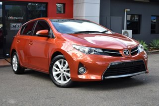 2013 Toyota Corolla ZRE182R Ascent Sport S-CVT Deep Orange Metallic 7 Speed Constant Variable.