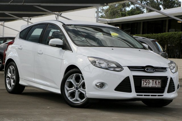 Used Ford Focus LW MkII Sport PwrShift, 2013 Ford Focus LW MkII Sport PwrShift White 6 Speed Sports Automatic Dual Clutch Hatchback