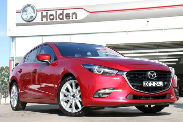Used Mazda 3 BN5438 SP25 SKYACTIV-Drive GT, 2017 Mazda 3 BN5438 SP25 SKYACTIV-Drive GT Soul Red 6 Speed Sports Automatic Hatchback