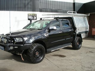2015 Ford Ranger PX MkII XLT Double Cab Black Mica 6 Speed Sports Automatic Utility.