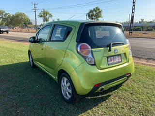2011 Holden Barina Spark MJ MY11 CD Green 5 Speed Manual Hatchback