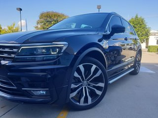 2019 Volkswagen Tiguan 5N MY19.5 162TSI DSG 4MOTION Highline Deep Black Pearl Effect 7 Speed.