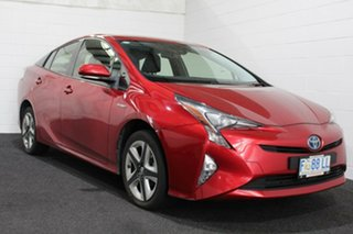 2016 Toyota Prius ZVW50R I-Tech Red 1 Speed Constant Variable Liftback Hybrid