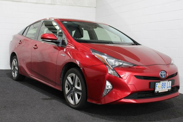 Used Toyota Prius ZVW50R I-Tech, 2016 Toyota Prius ZVW50R I-Tech Red 1 Speed Constant Variable Liftback Hybrid