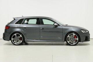 2018 Audi RS 3 8V MY18 Sportback Quattro Daytona Grey 7 Speed Auto Dual Clutch Hatchback