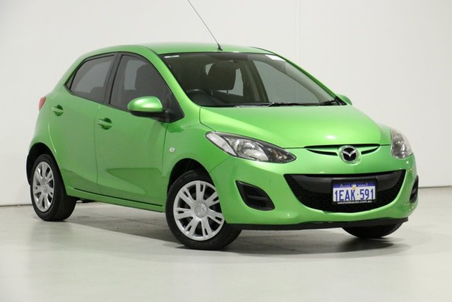 Demo Mazda 2 DE MY12 Neo, 2012 Mazda 2 DE MY12 Neo Green 5 Speed Manual Hatchback