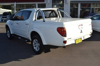 2012 Mitsubishi Triton MN MY12 GLX-R Double Cab White 5 Speed Manual Utility