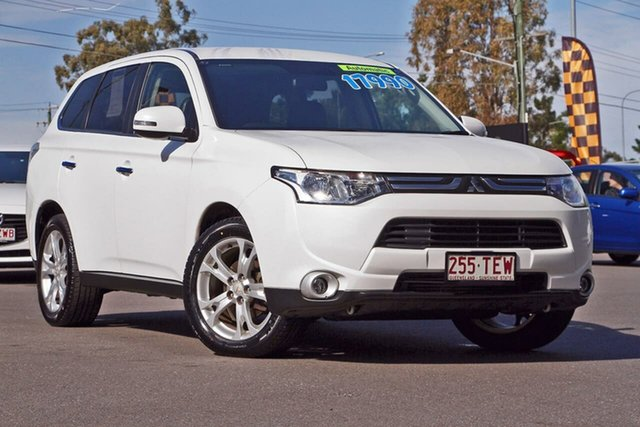 Used Mitsubishi Outlander ZJ MY13 Aspire 4WD, 2012 Mitsubishi Outlander ZJ MY13 Aspire 4WD White 6 Speed Sports Automatic Wagon