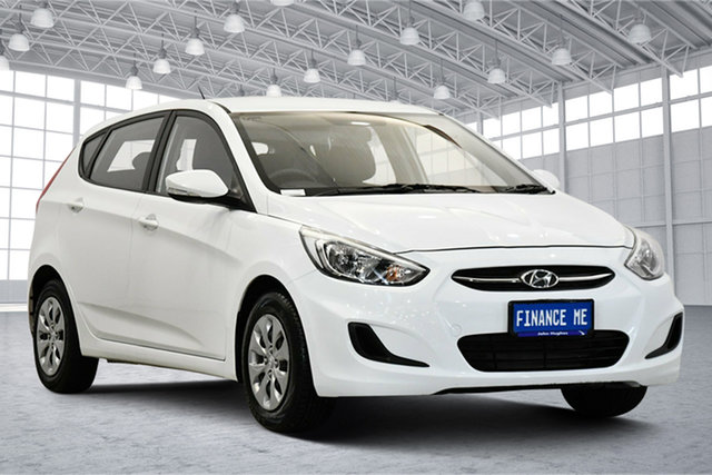 Used Hyundai Accent RB3 MY16 Active, 2016 Hyundai Accent RB3 MY16 Active White 6 Speed Hatchback