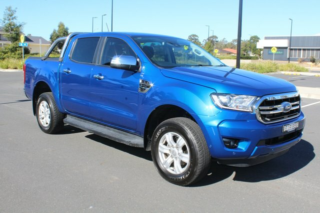 Used Ford Ranger PX MkIII 2019.00MY XLT Pick-up Double Cab, 2018 Ford Ranger PX MkIII 2019.00MY XLT Pick-up Double Cab Blue Lightning 10 Speed Sports Automatic