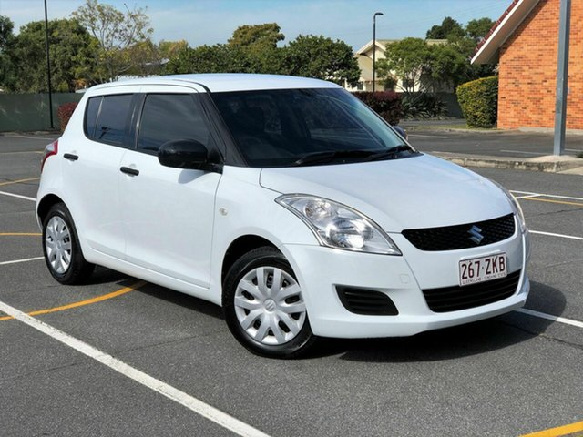 Used Suzuki Swift FZ GA Chermside, 2012 Suzuki Swift FZ GA White 5 Speed Manual Hatchback