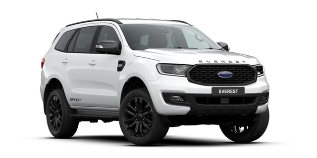 New Ford Everest UA II 2020.25MY Sport 4WD, 2020 Ford Everest UA II 2020.25MY Sport 4WD Arctic White 6 Speed Sports Automatic Wagon