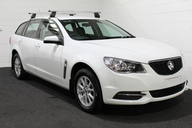 Used Holden Commodore VF II MY16 Evoke Sportwagon, 2016 Holden Commodore VF II MY16 Evoke Sportwagon Heron White 6 Speed Sports Automatic Wagon