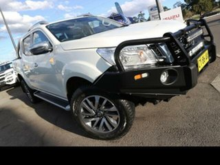 2017 Nissan Navara D23 Series II ST-X (4x4) White 6 Speed Manual Dual Cab Utility.