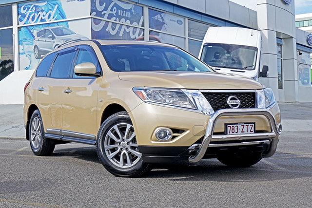 Used Nissan Pathfinder R52 MY14 ST-L X-tronic 2WD, 2013 Nissan Pathfinder R52 MY14 ST-L X-tronic 2WD Gold 1 Speed Wagon